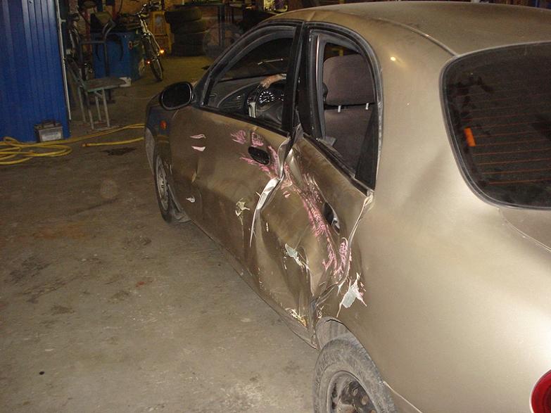 Ремонт автомобиля Daewoo Sens после аварии